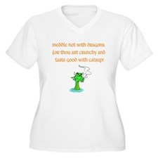Meddle Not (green dragon) T-Shirt