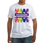 straight but not narrow Fitted T-Shirt