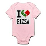 I Love Pizza  Baby Onesie