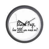 Blank Page how dare you Wall Clock