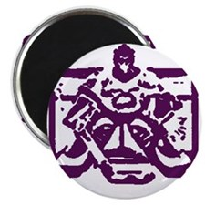 Hockey goalie purple Magnet