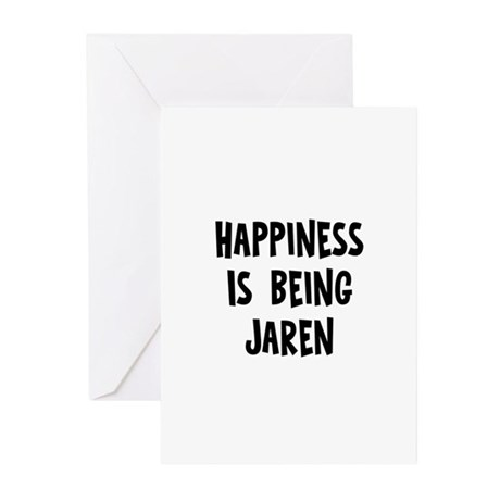 Happiness is being Jaren Greeting Cards (Pk of 10)