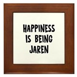 Happiness is being Jaren Framed Tile