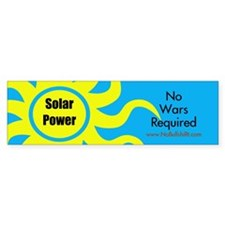 Solar Power No War Required Bumper Bumper Sticker