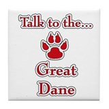 Dane Talk Red Tile Coaster