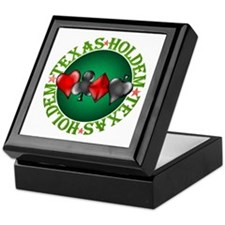 Texas Holdem 4 Keepsake Box