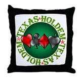 Texas Holdem 4 Throw Pillow