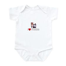 I Love Yorkies Infant Bodysuit