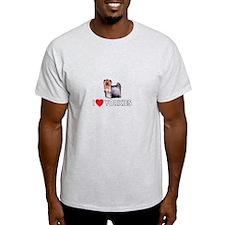 I Love Yorkies T-Shirt