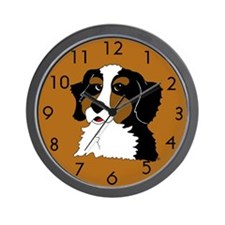Bernese Mountain Dog Puppy Wall Clock