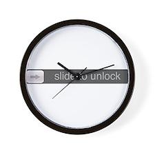 Slide to Unlock Wall Clock