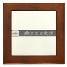 Slide to Unlock Framed Tile