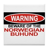NORWEGIAN BUHUND Tile Coaster