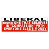 Liberal Definition Bumper Car Sticker