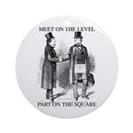 Meeting On the Level - Black Ornament (Round)