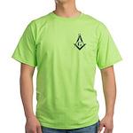 The Blue Masonic Lodge Green T-Shirt