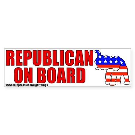 Republican On Board Bumper Sticker