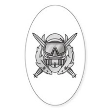 Combat Diver (2) Oval Decal