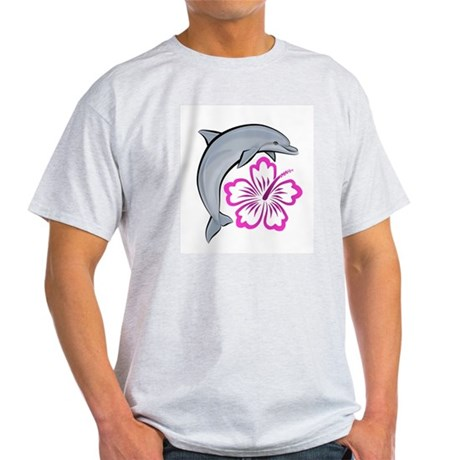 Dolphin Hibiscus Pink Light T-Shirt