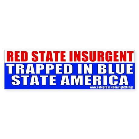 Red State Bumper Sticker