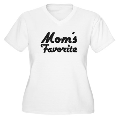Mom's Favorite Women's Plus Size V-Neck T-Shirt