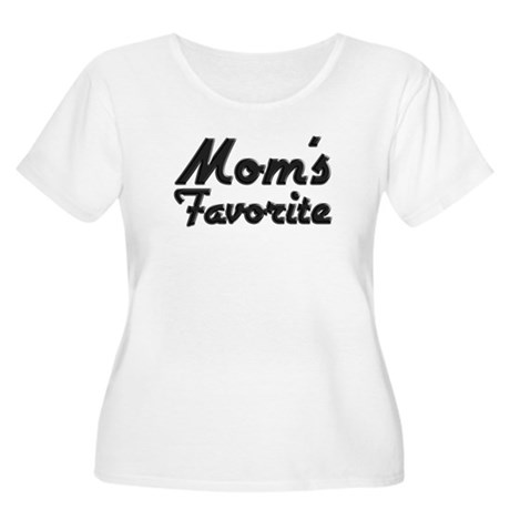 Mom's Favorite Women's Plus Size Scoop Neck T-Shir