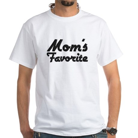 Mom's Favorite White T-Shirt