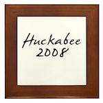 Huckabee 2008 Autograph Framed Tile