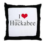I heart Huckabee Throw Pillow