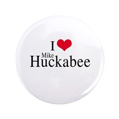 "I heart Huckabee 3.5"" Button"