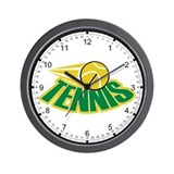 Tennis Attitude Wall Clock