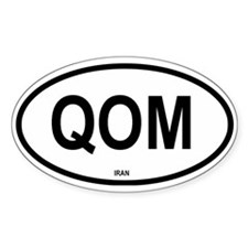 Qom Oval Decal
