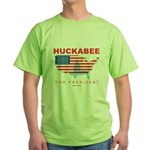Mike Huckabee for President Green T-Shirt