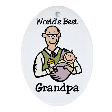 World's Best Grandpa Oval Ornament