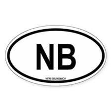 New Brunswick Oval Decal