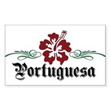 Portuguesa - Hibiscus Rectangle Decal