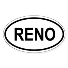 Reno Oval Decal