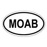 Moab Oval Bumper Stickers