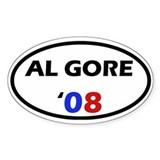 Al Gore '08 Oval Decal