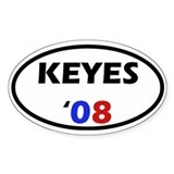 Keyes '08 Oval Decal