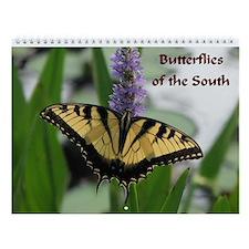 Butterflies of the South Wall Calendar