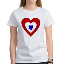 Red White Blue Heart Tee