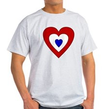 Red White Blue Heart T-Shirt