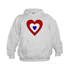Red White Blue Heart Hoodie