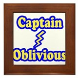 Captain Oblivious Framed Tile
