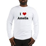 I Love Amelia Long Sleeve T-Shirt