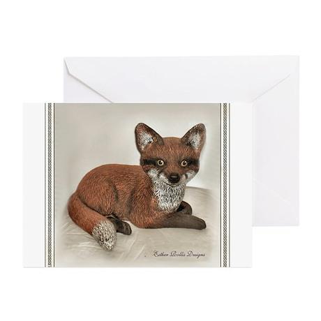 Fox Portrait Design Greeting Cards (Pk of 20)