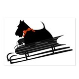 Scottish Terrier Sledding Postcards (Package of 8)