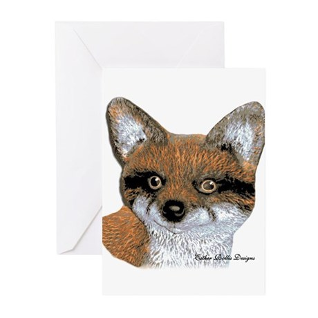 Fox Portrait Design Greeting Cards (Pk of 10)