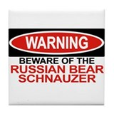 RUSSIAN BEAR SCHNAUZER Tile Coaster